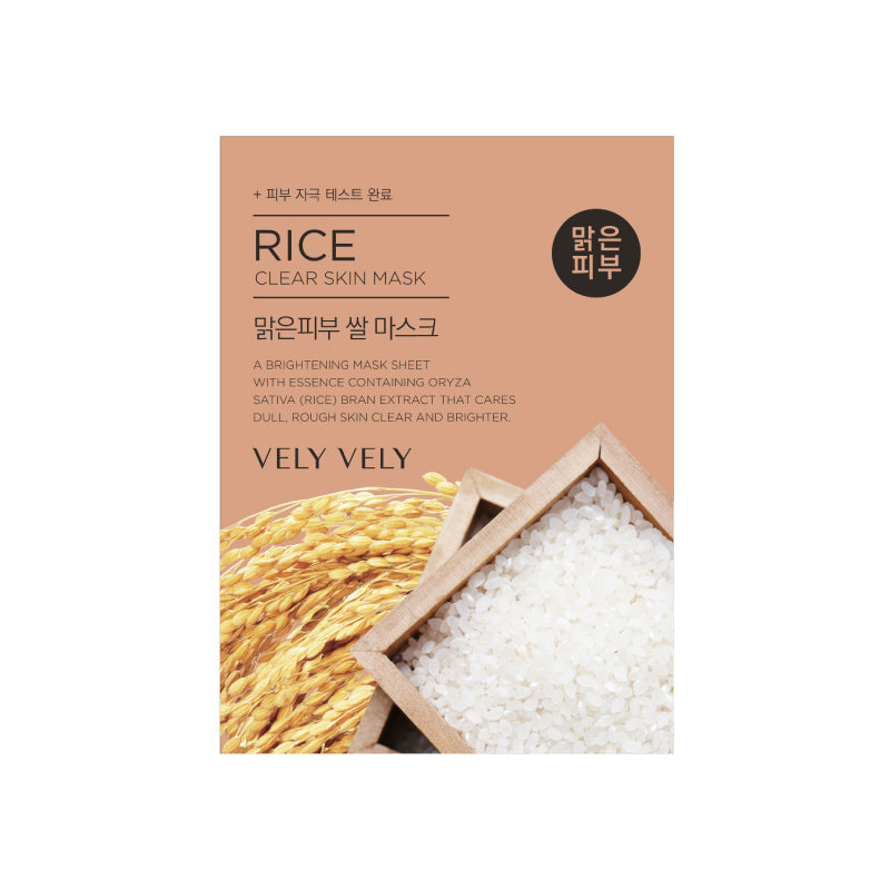 Vely Vely Skincare Facial Mask - Rice (Clear Skin)