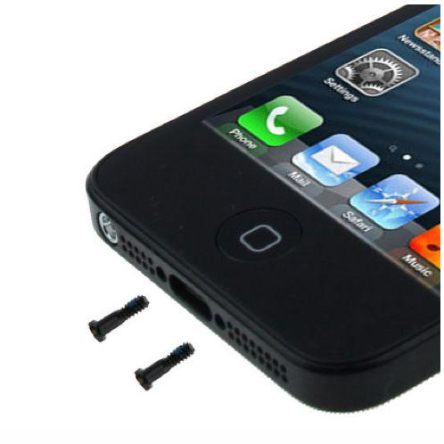 COPPIA 2 VITI PER APPLE IPHONE 5 5S NERO TORX PENTABOLO COMPATIBILE - BOMAItalia.com