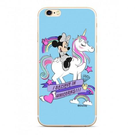 COVER CUSTODIA DISNEY MINNIE BIANCA  PHONE CASE SFONDO ROSA HUAWEI MATE 20 LITE