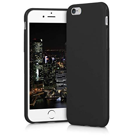 CUSTODIA COVER SILICONE MATT COLORATA NERA TPU APPLE IPHONE 6 6S ULTRA SLIM BACK CASE