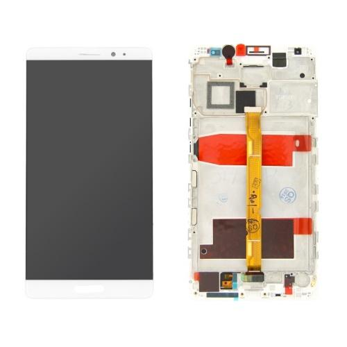 DISPLAY LCD CON FRAME PER HUAWEI ASCEND MATE 8 BIANCO COMPATIBILE