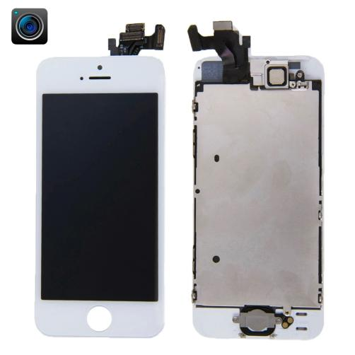 DISPLAY LCD TOUCH SCREEN FRAME CAMERA SENSORE RICAMBIO COMPATIBILE CON APPLE IPHONE 5 BIANCO COMPLETO