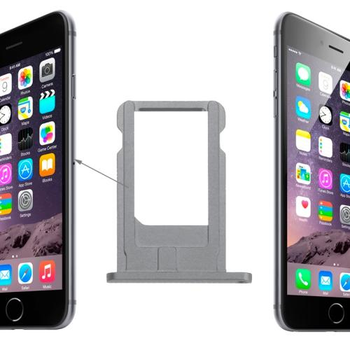 CARRELLO SIM PER APPLE IPHONE 6 GRIGIO COMPATIBILE