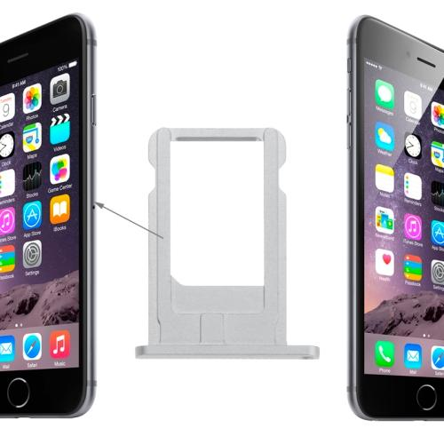CARRELLO SIM PER APPLE IPHONE 6 SILVER ARGENTO COMPATIBILE