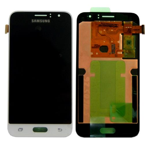DISPLAY LCD PER SAMSUNG GALAXY J1 (2016) SM-J120F BIANCO SERVICE PACK
