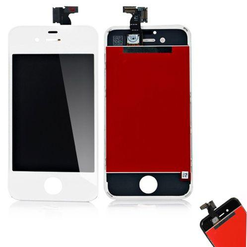DISPLAY LCD CON FRAME PER APPLE IPHONE 4S BIANCO COMPATIBILE