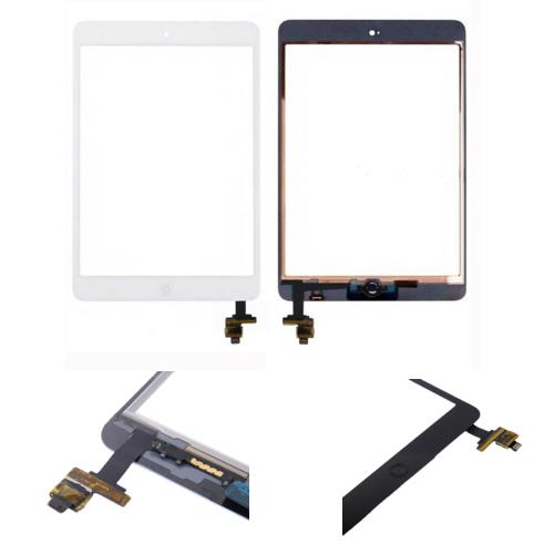 VETRO TOUCH SCREEN CON TASTO HOME PER APPLE IPAD MINI BIANCO COMPATIBILE