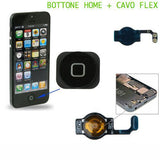 APPLE IPHONE 5 FLEX FLAT BOTTONE TASTO HOME ACCENSIONE NERO RICAMBIO
