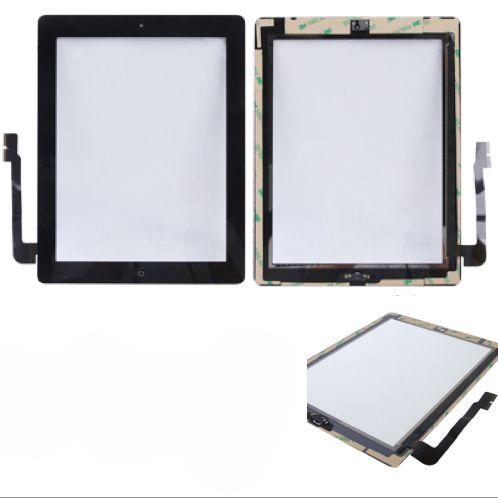 VETRO TOUCH SCREEN PER APPLE NEW IPAD 3 NERO TASTO HOME COMPATIBILE
