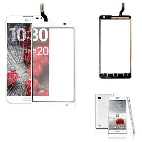 VETRO TOUCH SCREEN PER LG OPTIMUS L9 II D605 BIANCO COMPATIBILE