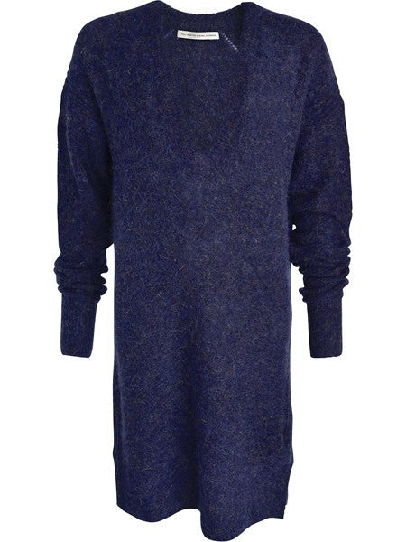 FWSS Going Under is a supersoft mohair/wool mix oversized v-neck knit dress with subtle slits at side seams and rib at edges.