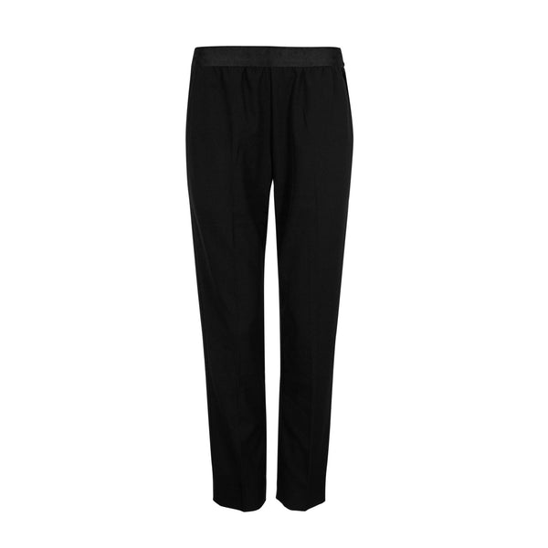 FWSS Bunkerpop is a relaxed cigarette cut trouser with fitted elastic waist.