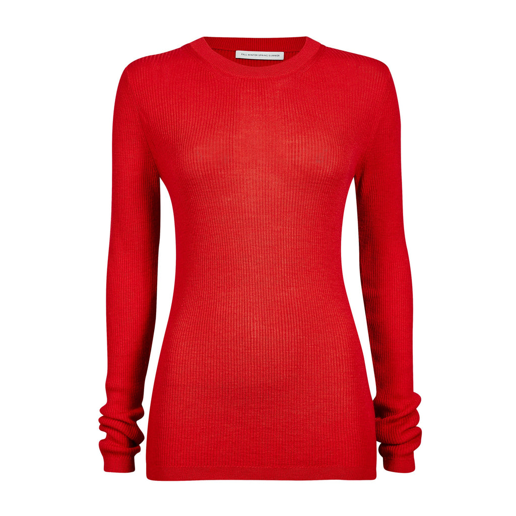 FWSS Snowball is a comfort stretch fitted roundneck sweater in soft ribbed merino quality.