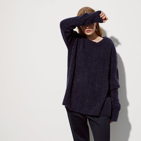 Going under long knit sweater dress Black iris blue