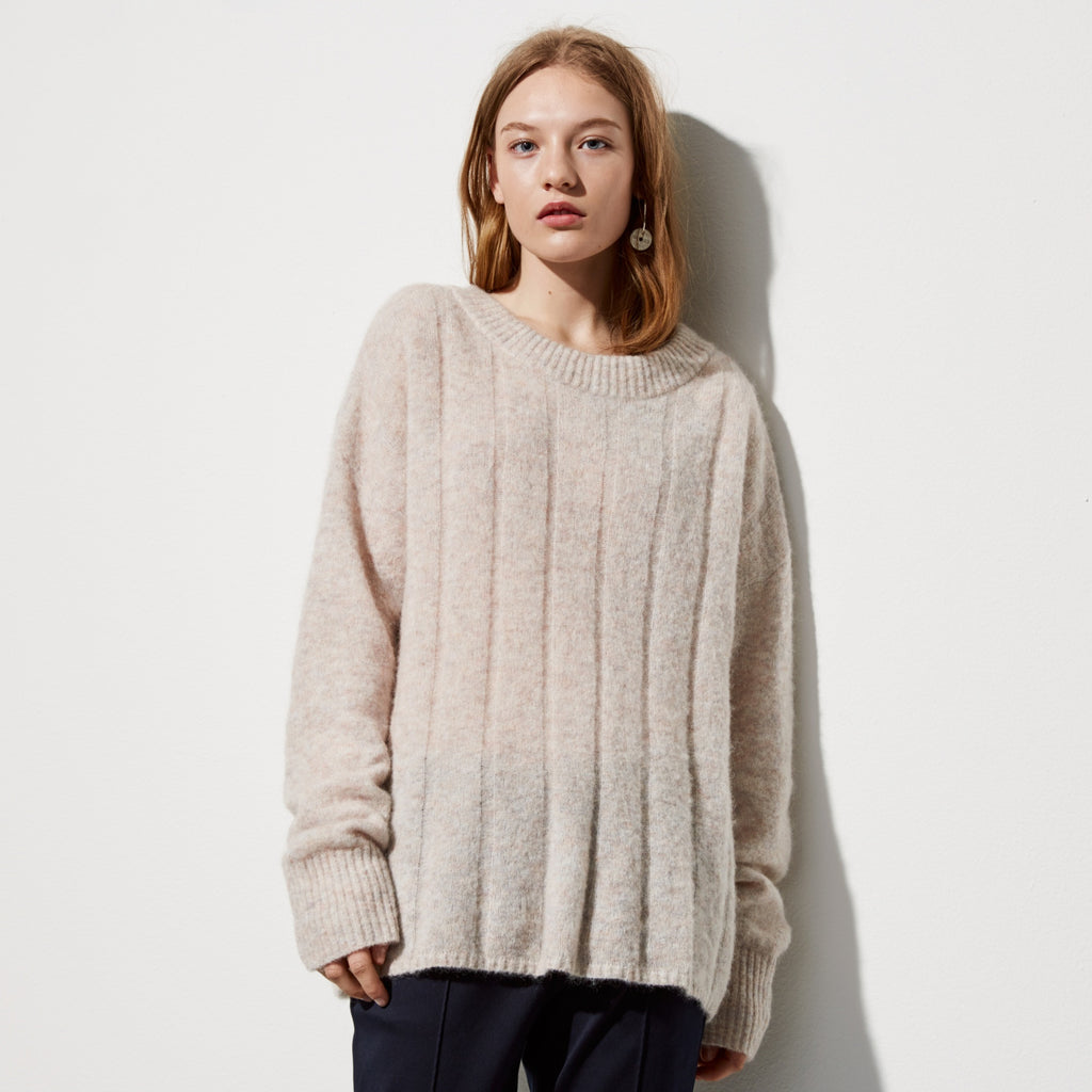 sweater gold pink shimmer hi light cleo asymmetrical res