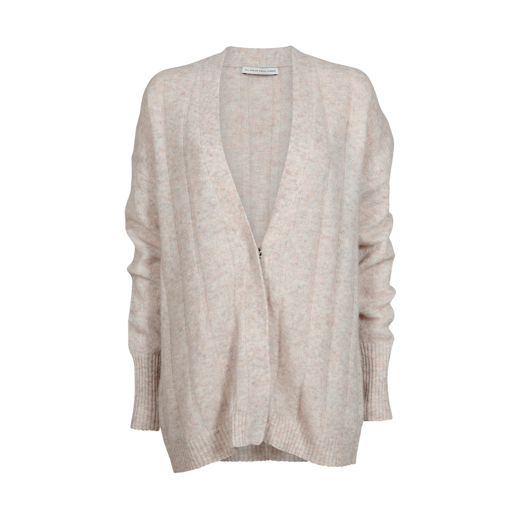Timing X knit cardigan Light pink melange