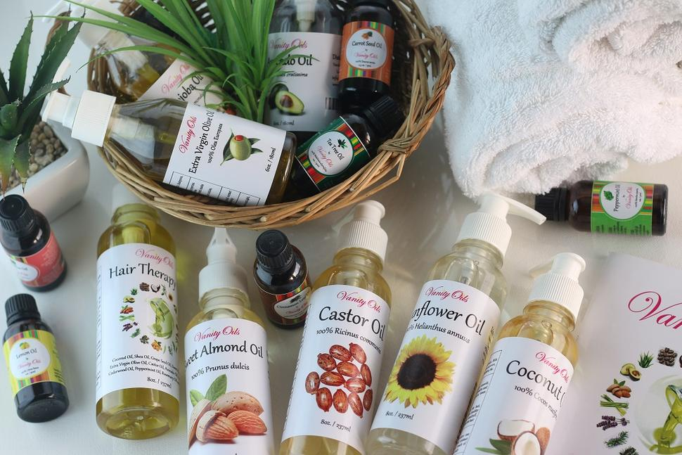 Vanity Oils is Nigeria bests place to buy pure natural carrier and essential oils with the largest collection for hair growth and skin lightenin and brightening