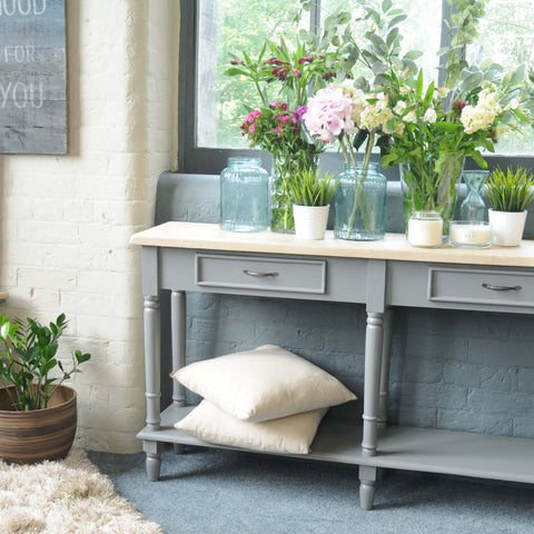 Vintage Grey Sideboard