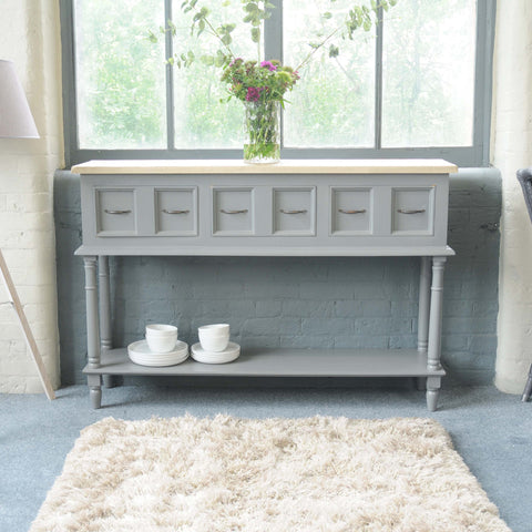 Vintage Grey Country Style Sideboard