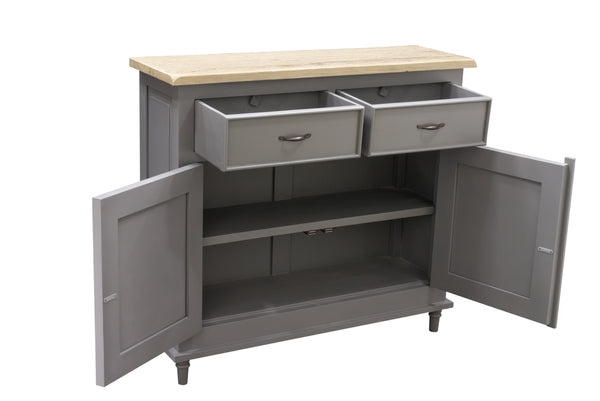 Vintage Grey Storage Sideboard