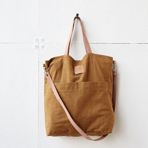 Linen Tote Bag - Solid Mustard