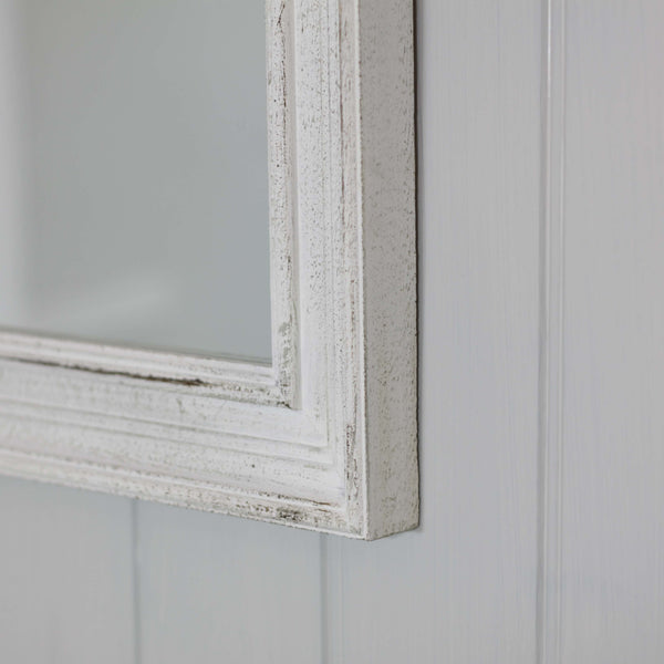 Stone Antique White Mirror