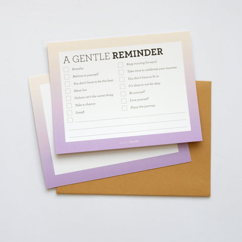 Checklist: A Gentle Reminder