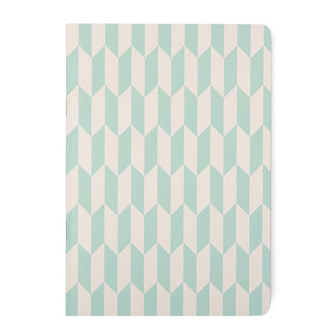 A5 Jotter: Mint Green Herringbone