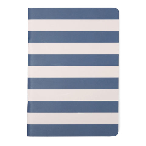 A5 Jotter: Navy Wide Stripes