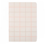 A5 Undated Weekly Planner: Neutral Pink Grid