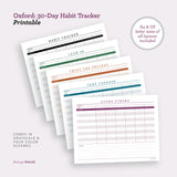 Oxford: 30-Day Habit Tracker