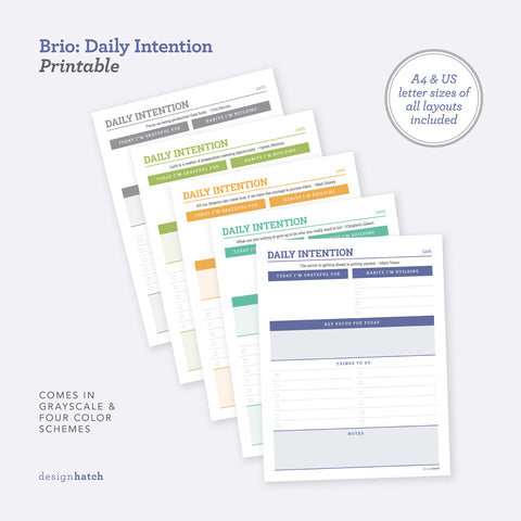 Brio: Daily Intention