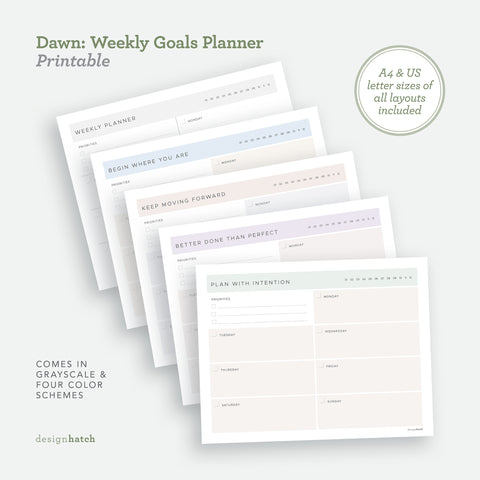Dawn: Weekly Goals Planner