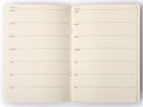 A5 Undated Weekly Planner: Navy Wide Stripes