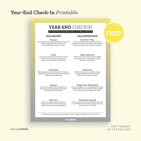 Year-End Check-In Worksheet