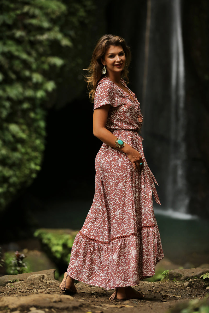 Alice Wrap Maxi Dress - Tulle and Batiste