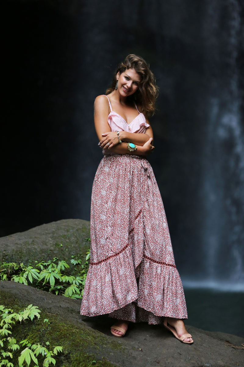 Alice Wrap Maxi Skirt - Tulle and Batiste