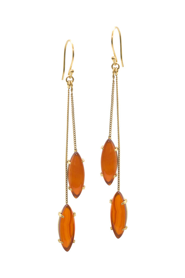 BLOSSOM EARRINGS - CARNELIAN - TULLE AND BATISTE
