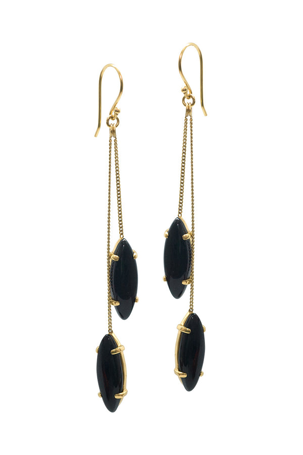 BLOSSOM EARRINGS - ONYX - TULLE AND BATISTE