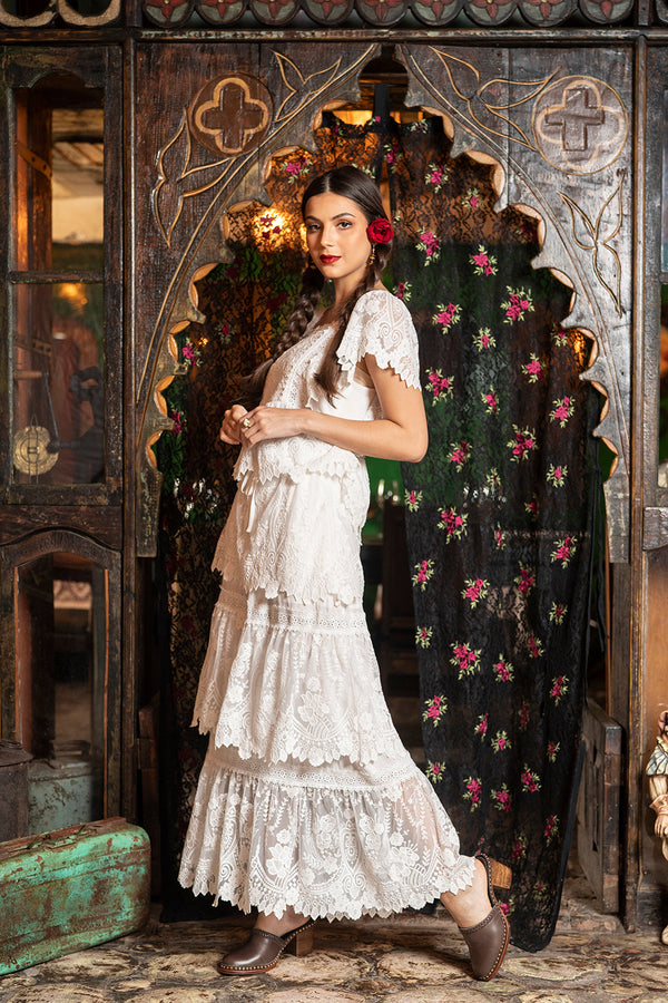 Carmen Maxi Skirt - Snow White - Senorita by Tulle and Batiste