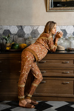 Daydreamer Trackpants - Terracotta - Daydreamer by Tulle and Batiste