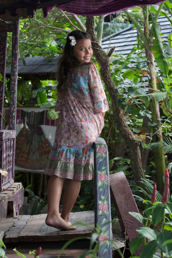 Gihon Boho Dress - Lotus - Tulle and Batiste