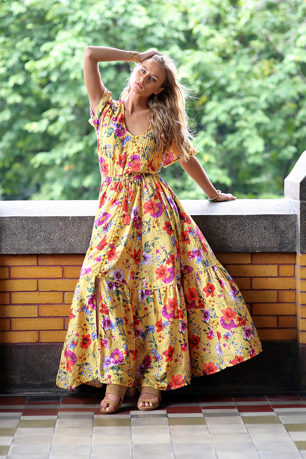 Esmeralda Maxi Dress - Dandelion - Tulle and Batiste