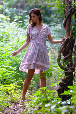 Fabbie Mini Dress - Blush - Tulle and Batiste