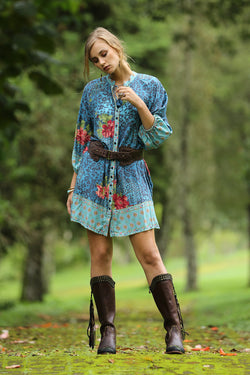 Gazelle Shirt Dress - Blue Moon - Tulle and Batiste