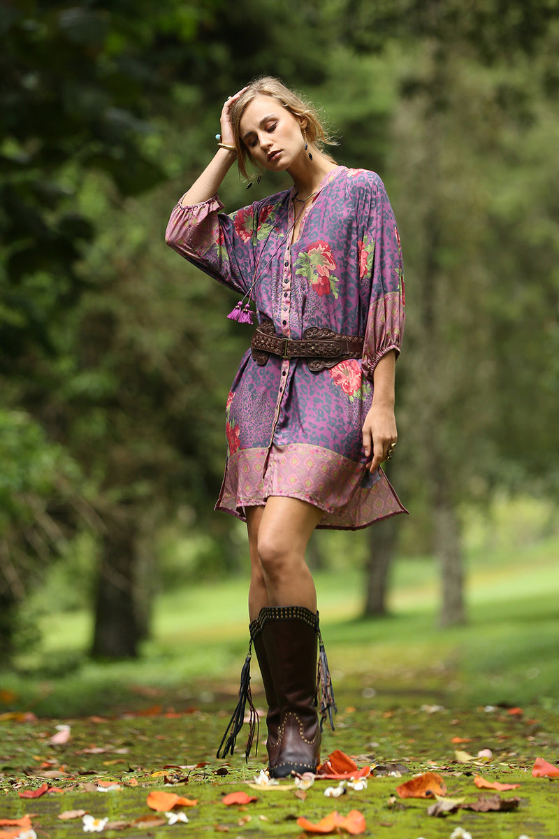 Gazelle Shirt Dress - Purple Potion - Tulle and Batiste
