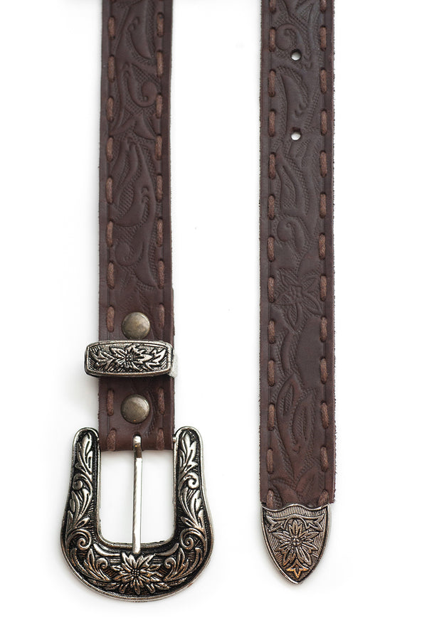 The Gypsy Queen Belt - Antique Brown - Tulle and Batiste