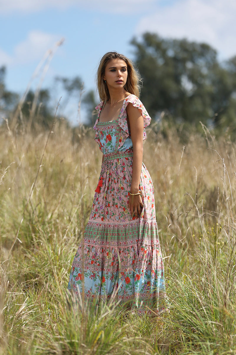 Hannah Maxi Dress - Lotus - Tulle and Batiste
