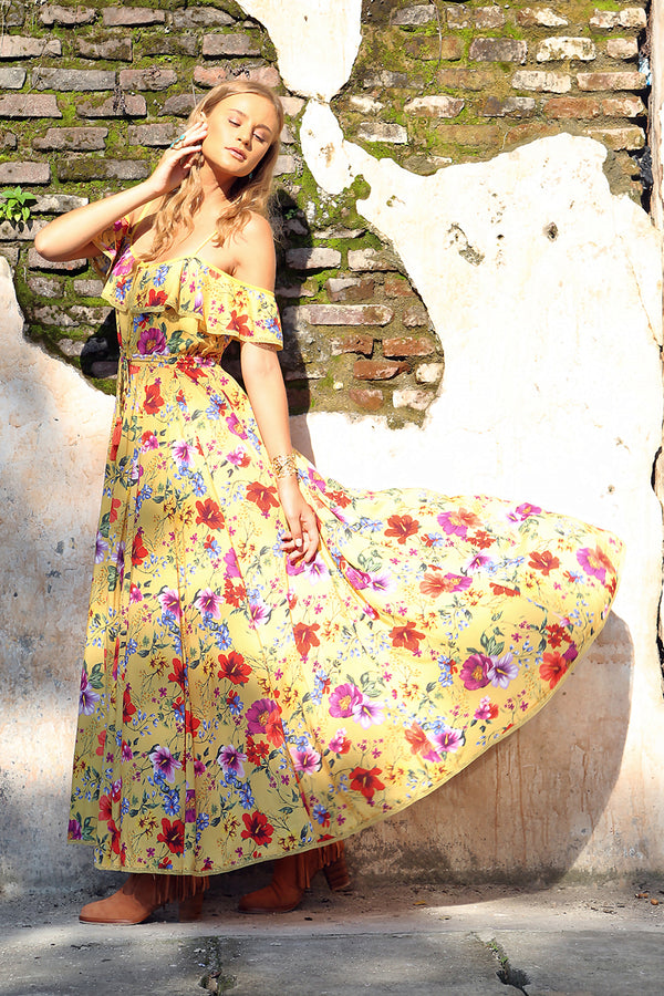 Harmonia Maxi Dress - Dandelion - Tulle and Batiste