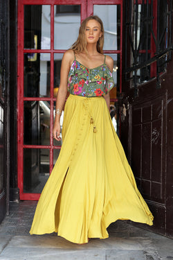 Harmonia Maxi Skirt - Plain Dandelion - Tulle and Batiste